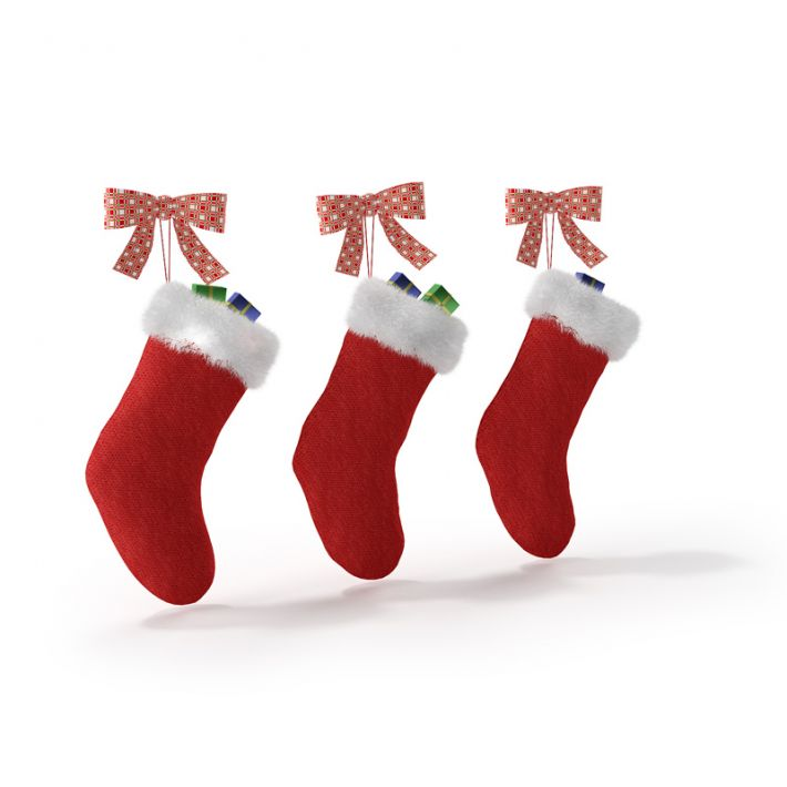 3D model Red Christmas Stockings | CGTrader