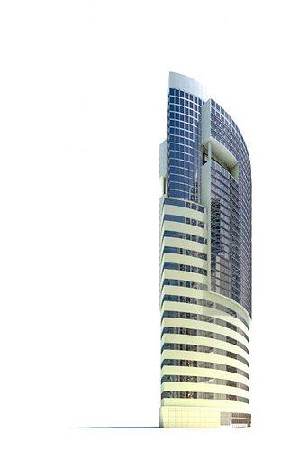 highrise building 3d model obj mtl 1