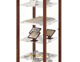 wood and glass jewelry display case 3d
