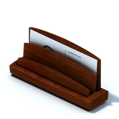 3d Model Wooden Business Card Holder Cgtrader