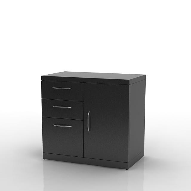 Black Storage Cabinets Cgtrader