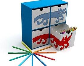 3D model Modern Kids Play Storage