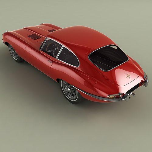 3D Jaguar E-type Coupe Mk1 | CGTrader