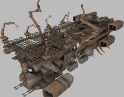 Mobile Shipyard 3D asset