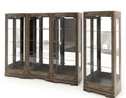 Wood And Glass Display Cabinets 3D model