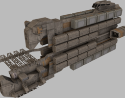 realtime 3d model cargo freighter