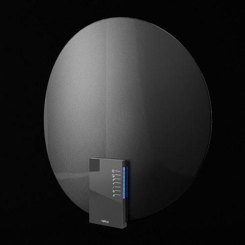 dark gray rounded kitchen appliance 3d model obj 1