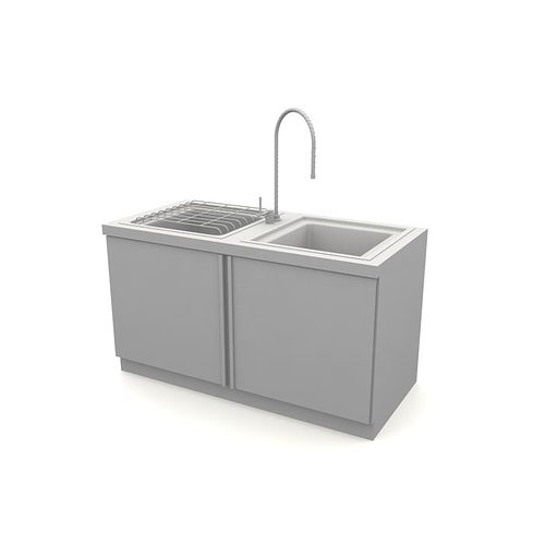 grey kitchen sink 3d model  1