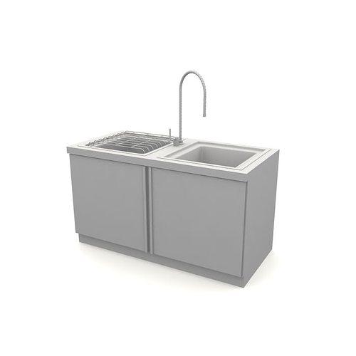Kitchen Sink Model: Grey Kitchen Sink 3D Model