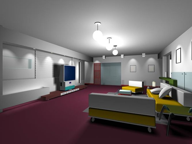 Living Room 3d Model 3ds