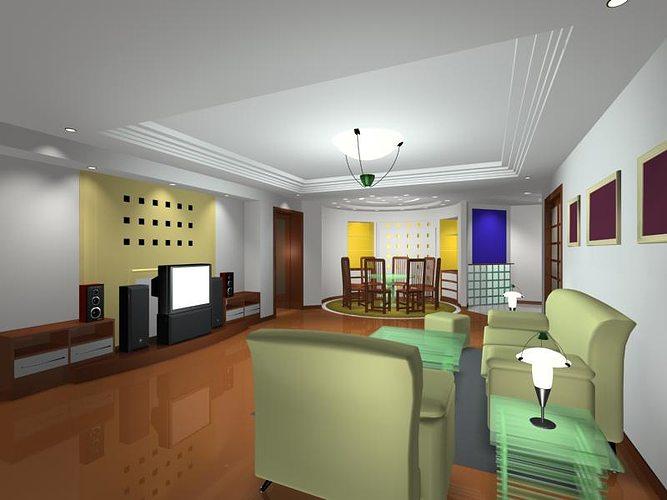 Living room 3d model 3ds for Living models