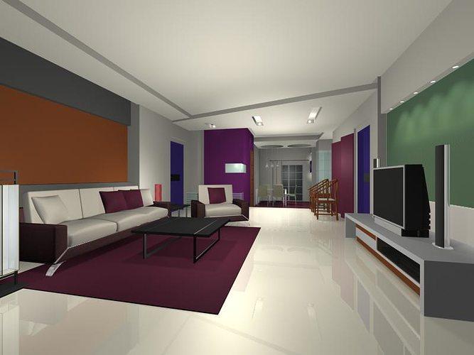 Living room 3d model living room cgtrader for Living models