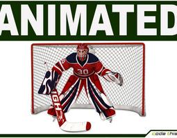 Hockey Player Goalkeeper CG 3D Model