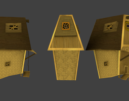 3d model lowpoly medieval fantasy home game-ready