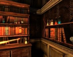 3D asset Mystic Library Modelpack
