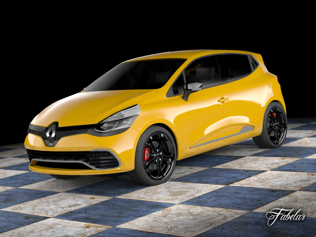 3d Model Renault Clio Rs 2013 Cgtrader