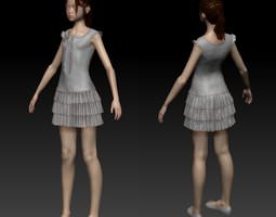 3D Girl in dress