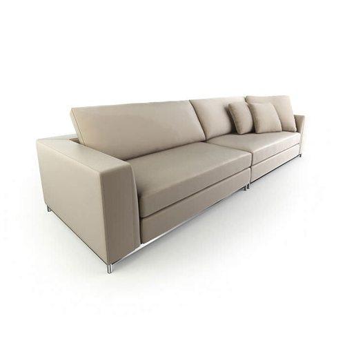 3d model retro beige couch cgtrader. Black Bedroom Furniture Sets. Home Design Ideas