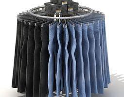 Circular Metal Garment Rack 3D
