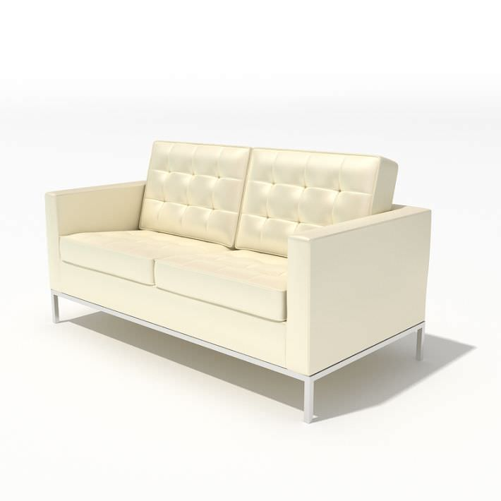 modern style small white sofa 3d model