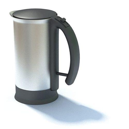 One Mug Coffee Maker Model Wm 6101 : Silver Coffee Cup 3D model MAX