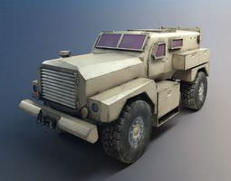 armed forces vehicle  armored 3d model