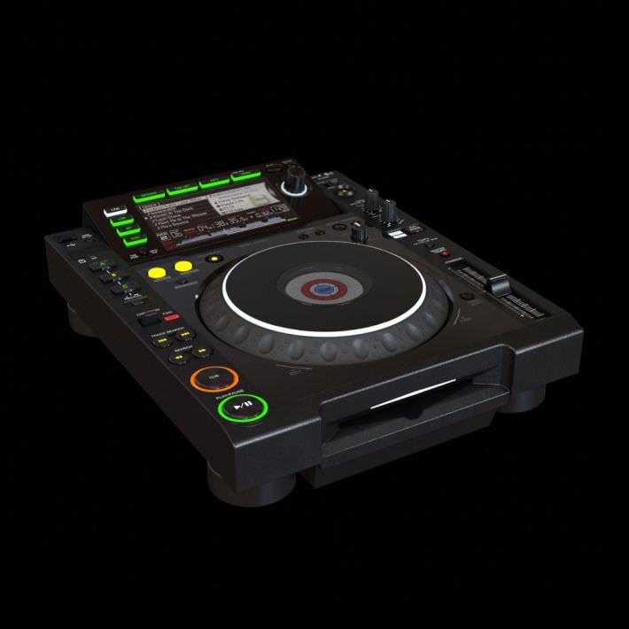 Black Dj System 3d Model Obj 1