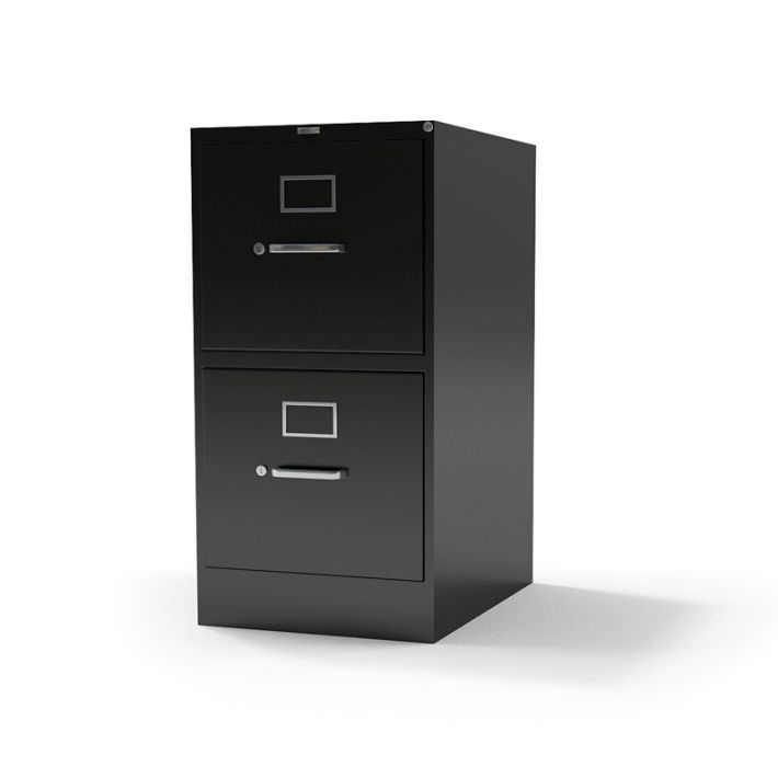 metal file cabinet with lock 4 drawer used model obj