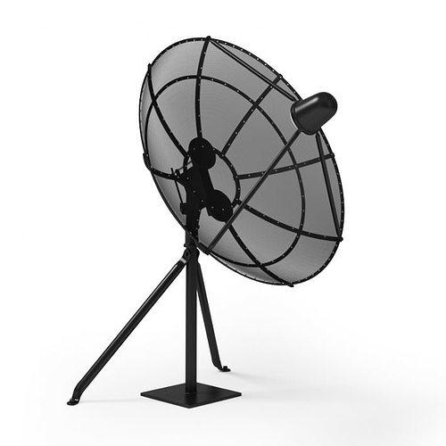 retro home antenna dish 3d model obj mtl 1