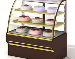 3d model glass cake display