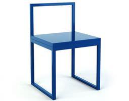 Modern Blue Chair 3D