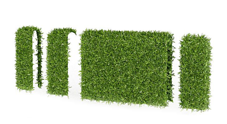 Green Hedge Pieces