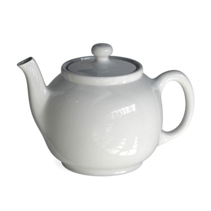 Classic White Porcelain Teapot