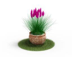 3D model Potted Pink Flower Plant