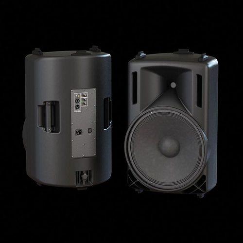 stereo speakers 3d model obj mtl 1