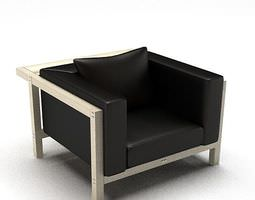 3D Modern Black Metal Chair