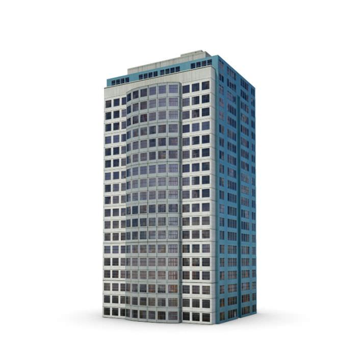 Tall Modern Office Building D Model CGTrader - Modern office building