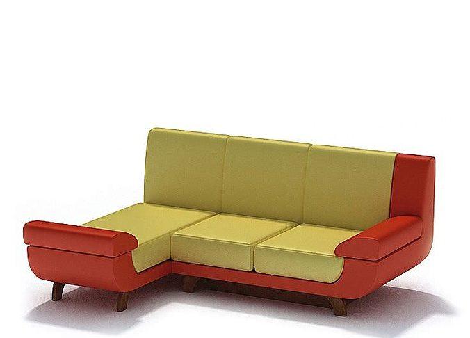 3d model designer retro sofa cgtrader. Black Bedroom Furniture Sets. Home Design Ideas