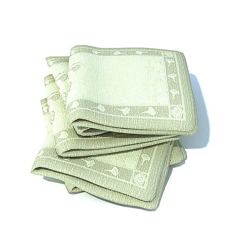 green patterned towels folded 3d model  1