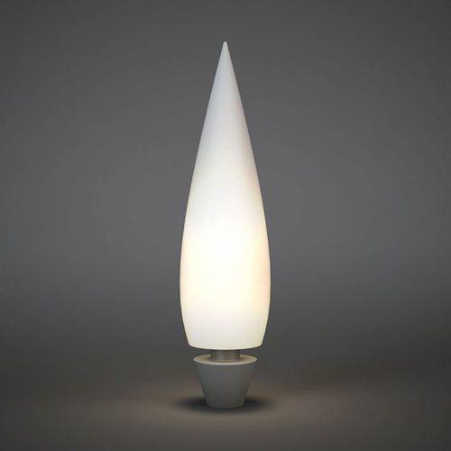 pointy white lamp 3d model obj mtl 1