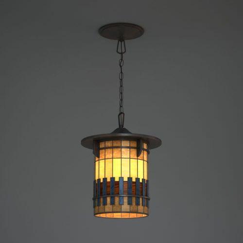 hanging stained glass lamp 3d model obj. Black Bedroom Furniture Sets. Home Design Ideas