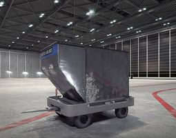 3d model airport container trolley