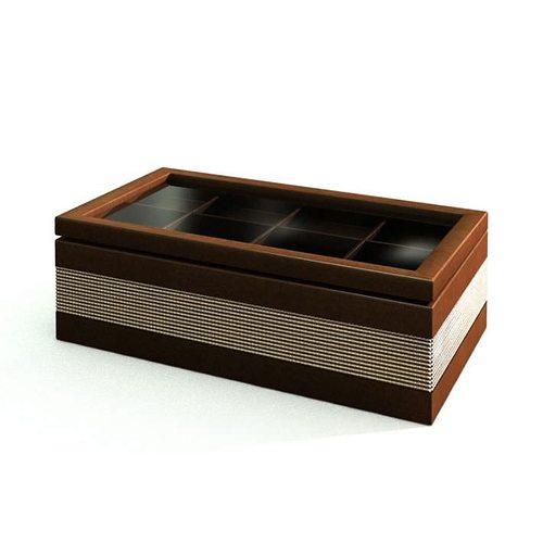 Wooden Storage Ottoman 3D Model