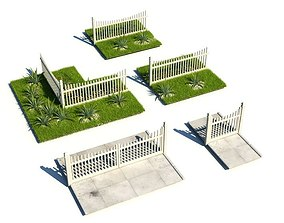 White Picket Fencing 3D