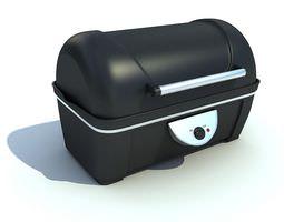 3D model Black Plastic Barbeque