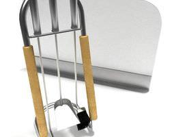 metal fireplace toolset 3d model