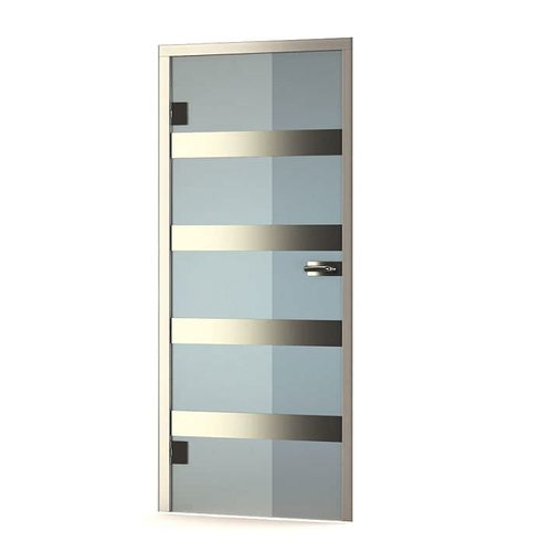 Attrayant Modern Glass Door 3d Model Obj 1