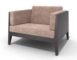 trendy sofa with cushion 3d model