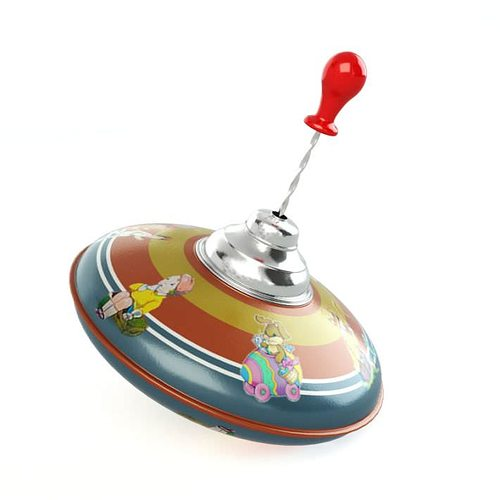 Retro Top Toys : Vintage classic spinning top d model cgtrader
