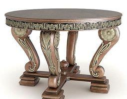 3D Table Ornate Metallic